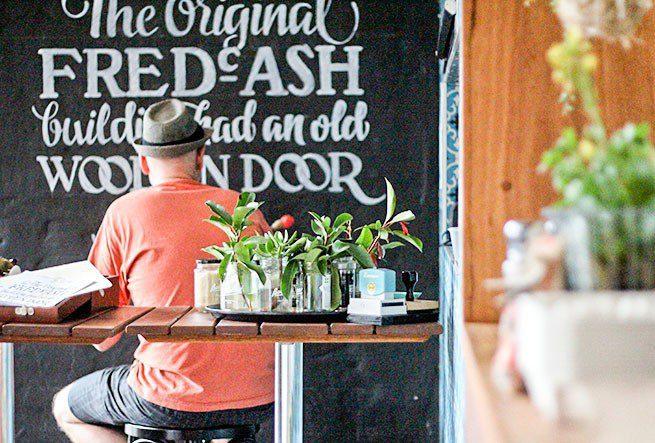 Blue Door Cafe Drawing