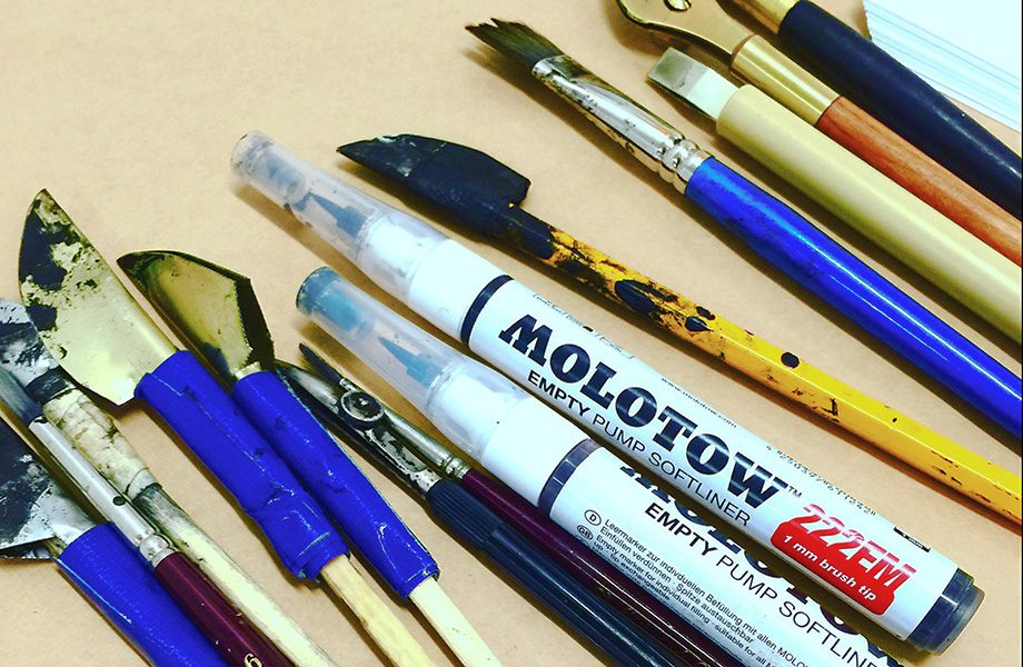 Shillington lettering workshop: Free to experiment.