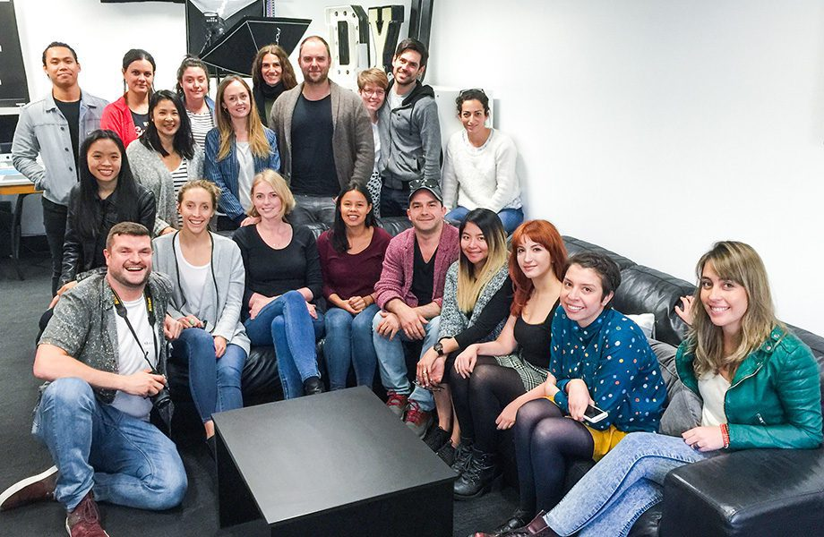 Class photo of the participants in the Type by Hand free workshop at Shillington Sydney